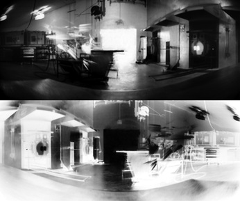 Positive And Negative Pinhole Image Of Glassblowing Created With A Paper Inside Round Care Bear Tin Converted Into Camera 2013